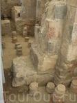 Античный храм Гарни. Участок интерьера царской бани.