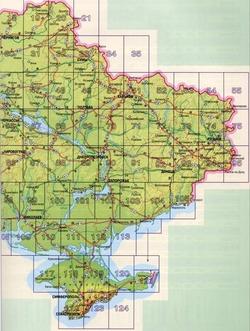 Карта Восточной Украины с городами