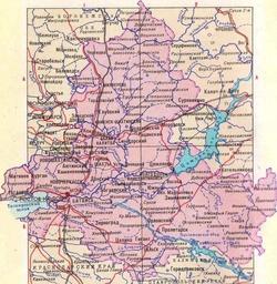 Карта Ростовской области с городами