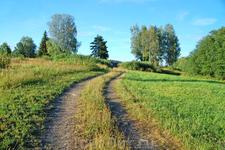 Въезд на территорию усадьбы.