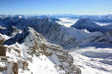 Вид с Zugspitze, 2962m