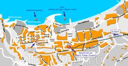 Карта Сорренто с улицами
