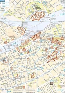 Карта Санкт-Петербурга с достопримечательностями