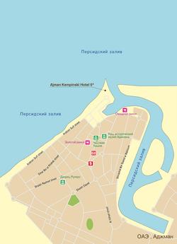 Карта Аджмана
