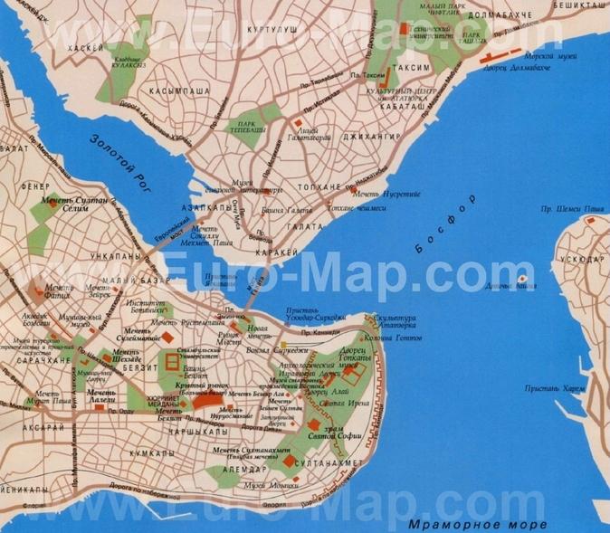 Карта районов Стамбула на