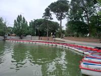 На Большом озере работает школа гребли, в которой как раз тренировались юные спортсмены. Ну и можно взять лодку на прокат, тем, кто хочет покататься.