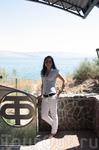 Церковь основанная греческим монахом -одиночкой. за спиной озеро Кинерет