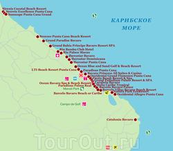 Карта отелей Пунта-Каны