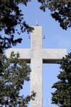 Крест на вершине горы Филеримос стоит на площадке с которой можно любоваться панорамным видом на остров, но и сам крест тоже является смотровой площадкой, внутри креста есть узкая винтовая лестница, в