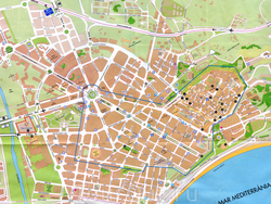 Географическая карта Таррагоны