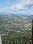 Панорама Италии из Сан-Марино