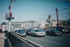 Калининград.Центр города.Снимок сделан из окна автомобиля.