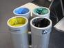 Вот такие забавные мусорки стоят на заводе, для разных видов отходов.
