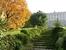 Жалко, что со стороны парка проход ко дворцу закрыт, я думаю, что если подняться по лестнице, то оттуда открывается потрясающий вид на парк и город.