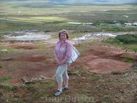Вид на плато Долины Гейзеров - области уникальной геотермальной активности