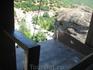 Метеоры, монастырь Св.Варлаама, на этот мостик поднимали по верёвке посетителей монастыря и провизию (сейчас все идут по лестнице)