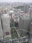 вид на небоскрёбы с Токийской башни