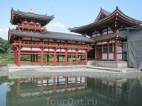 Храм Бедо-ин изображен на монете номиналом в 10 иен
