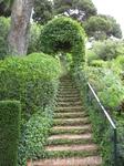 Очень красивые веточки зелени, идущие вдоль ступеней. Кстати, каждый день в сад приезжают садовники и самым тщательным образом ухаживают за всеми растениями здесь.