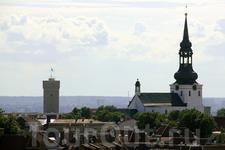 Таллин с высоты смотровой площадки на башне церкви Олевисте