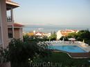 Вид с террасы на Стамбул