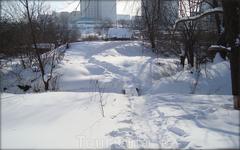 тот же мостик зимой