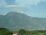 Гора Олимп из окна автобуса