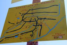 Карта района на Черкесском перевале