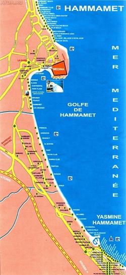Карта Хаммамета