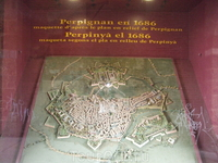 Перпиньян. Макет города 1686 года