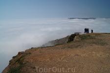 Туман над Черным морем с горы Асекти
