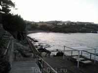 один из пляжей вечером