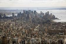 Нижний Манхэттен, Финансовый Район и река Гудзон, Нью-Йорк