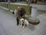 С собакой моих друзей на вокзале Ганновера