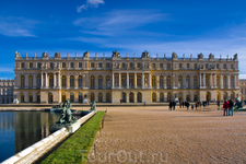 Версальский дворец, тыльная сторона, смотрящая на парк