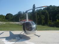 Не покататься ли нам на вот этом чудо творении?  Сам не ожидал, что да. ) В итоге - Над озером Абрау на частном вертолёте.