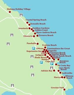 Карта отелей Протараса
