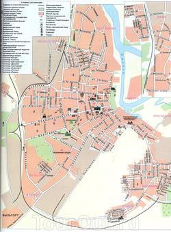 Карта Сыктывкара с достопримечательностями