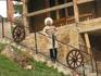 Медовые водопады; декоративное карачаевское подворье; нас встречает бравый джигит