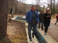В парке, каскад прудов