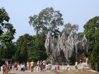 Памятник Сибелиусу народ проснулся... там толпы туристов