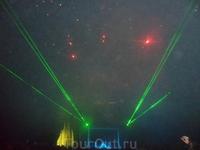 Вечернее лазерное шоу
