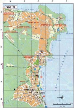 Карта города Салоу