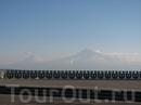 Ереван, вид на Арарат со смотровой площадки в Парке Победы
