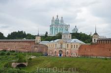 Смоленск, панорама соборного холма.