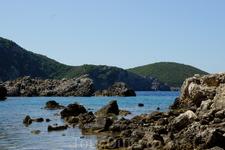 Вид с пляжа Limni
