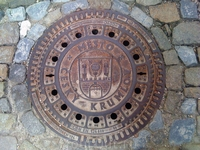 Люк городской канализации