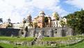 вид на архитектурный комплекс Новоафонского монастыря